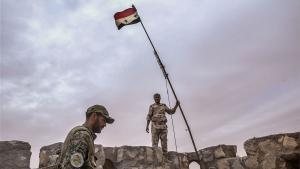Syrische Armee erobert Zitadelle von Palmyra; Foto: picture-alliance/dpa/TASS/V. Sharifulin