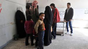 Behandlung von Leishmaniose-Patienten in einem Krankenhaus in Aleppo am 24. März 2013; Foto: Getty Images/AFP/B. Kilic