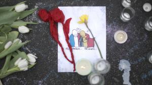 Trauer für die Opfer der Anschläge von Paris und Brüssel; Foto: Getty Images/C. Furlong