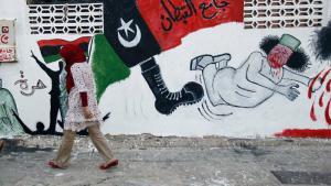 Wandmalerei an einer Fassade in Tripolis; Foto: AP