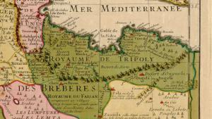 Historische Karte Tripolitaniens unter der Karamanli-Dynastie; Quelle: wikipedia
