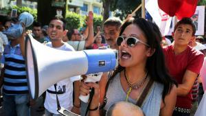 Proteste gegen Korruption und Vetternwirtschaft in Tunis; Foto: picture-alliance/dpa/M. Messara