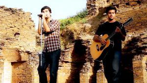 Ismail Khan (l.) zusammen mit seinem Bandmitglied Junaid, Foto: Ismail Khan