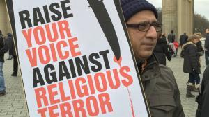 Demonstration gegen Morde an Bloggern in Bangladesch; Foto: DW/A. Islam