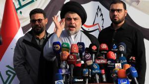 Schiitenprediger Muktada al-Sadr; Foto: picture-alliance/dpa/K. Kadim