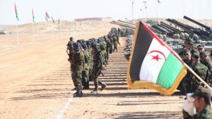 Rebellen der Frente Polisario im Flüchtlingslager Tindouf im Süden Algeriens; Foto: DW/Nour Elhayet El Kebir