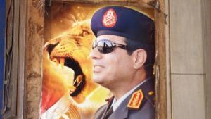 Wahlplakat Abdel Fattah al-Sisis in Kairo; Foto: Arian Fariborz