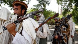 Talibankämpfer östlich von Kabul; Foto: picture-alliance/AP/R. Gul