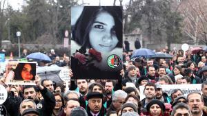 Proteste gegen den Mord an Özgecan Aslan in Ankara; Foto: Getty Images/AFP/A. Altan