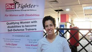 """Lina Khalifeh von der jordanischen Kampfsport-Initiative """"Shefighter""""; Foto: Claudia Mende"""