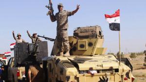 Die irakische Armee bei der Einnahme Falludschas; Foto: Reuters/A. Al-Marjani