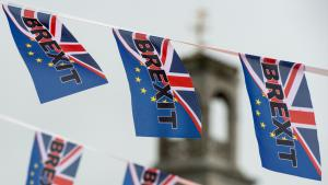 Brexit-Fähnchen in Ramsgate; Foto: Getty Images/AFP/C. J. Ratcliffe