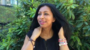 Die Autorin Shumona Sinha, Gewinnerin des Internationalen Literaturpreises; Foto: DW/S. Peschel