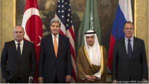 Treffen der Außenminister Saudi-Arabien, Türkei, USA und Russland.  Foto: Getty Images