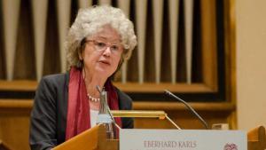 Die Berliner Islamwissenschaftlerin Angelika Neuwirth; Foto: Christoph Jackle/Universität Tübingen