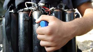Symbolbild Sprengstoffgürtel; Foto: picture-alliance/dpa/dpaweb/M. Saber