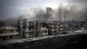 Kriegszerstörtes Aleppo; Foto: picture-alliance/AP-Photo/M. Brabo