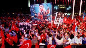 Demonstration für  Recep Tayyip Erdoğan am Taksim-Platz am 10. August 2016; Foto: Reuters/O.Orsal