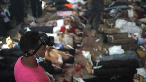 Tote nach dem Massaker auf dem Rabaa-Platz in Kairo und auf dem Al-Nahda-Platz in Giseh am 14. August 2013; Foto: Mosaab el-Shamy/AFP/Getty Images