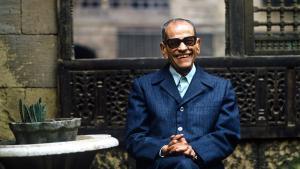Der ägyptische Schriftsteller und Literaturnobelpreisträger Naguib Mahfuz