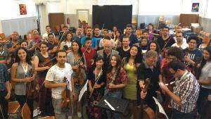Arabisches Jugendorchester in Berlin; Foto: DW