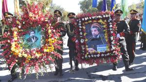 Gedenkfeier für Ahmad Schah Massoud anlässlich seines 15. Todestags in Kabul; Foto: Getty Images/AFP/S. Marai