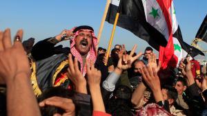 Proteste von Sunniten in Falludscha gegen die Zentralregierung in Bagdad am 28.12.2012; Foto: Karim Kadim/AP