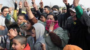 Kaschmirkonflikt: Anti-indische Proteste in Srinagar; Foto: AFP/Getty Images