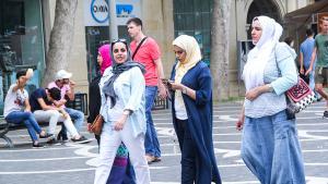 Arabische Touristen in Baku; Foto: azvision.az