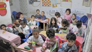 Grundschule im marokkanischen Fez; Foto: picture-alliance//chromorange/W.G. Allgöwer