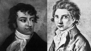Die Brüder August Wilhelm Schlegel (l.) und Karl Wilhelm Friedrich Schlegel; Quelle: wikipedia