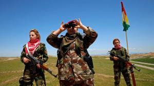 Anti-IS-Miliz - irakische Kurdinnen an der Front in der Nähe Mossuls; Foto: Reuters/A. Jadallah