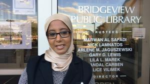 Die amerikanische Muslimin Hind Makki; Foto: Canan Topçu