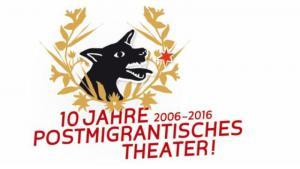 """Logo """"Zehn Jahre postmigrantisches Theater"""" im Ballhaus Naunynstraße; Quelle: Ballhaus Naunynstraße"""
