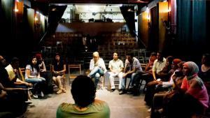 Diskussion nach einer Filmvorführung im Cinema Club Jesuit in Kairo; Quelle: Cinema Club Jesuit