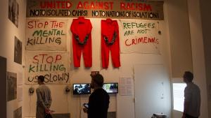 Bilder, Videos und Stellwände zum Thema Migration in Dänemark im Rahmen der CAMP-Ausstellung in Kopenhagen; Foto: Changiz M. Varzi