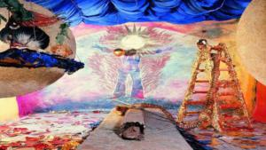 Michael Buthes Kunstwerk Sonnenraum 1976, Musée du Echnaton; Quelle VG Bild-Kunst