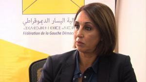 Parteichefin der PSU, Nabila Mounib; Quelle: youtube