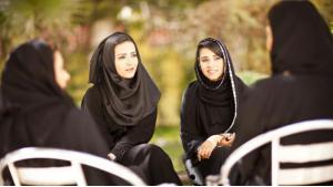 Arabische Frauen während einer Diskussion; Foto: British Council