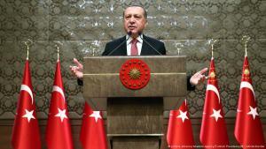 Der türkische Präsident Erdoğan; Foto: picture-alliance/Anadolu Agency/Turkish Presidency
