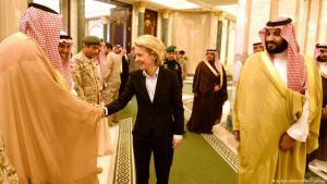 Bundesverteidigungsministerin Ursula von der Leyen zu Besuch beim saudischen Vize-Kronprinz Mohammed bin Salman al-Saud in Riad; Foto: dpa/Rainer Jensen