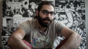Der syrische Autor Hamid Sulaiman; Foto: Getty Images/AFP/P. Lopez