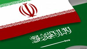 Nationalfahnen Irans und Saudi-Arabiens; Quelle: DW
