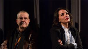 Merzak Allouache und die Filmdarstellerin Salima Abada; Foto: Internationale Filmfestspiele Berlin