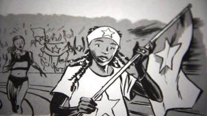 """Comicszene aus """"Der Traum von Olympia""""; Quelle: youtube"""