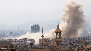 Detonationen in einem Vorort von Damaskus; Foto: AFP/Getty Images