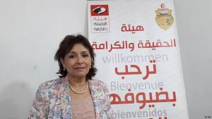"""Sihem Bensedrine, Vorsitzende der """"Instanz für Wahrheit und Würde"""" (IVD); Foto: DW"""