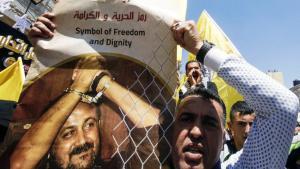 Solidaritätsdemo für den inhaftierten Fatah-Führer Marwan Barghouti; Foto: AFP/Getty Images