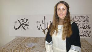 Imamin Sherin Khankan in der ersten Frauenmoschee Kopenhagens; Foto: Ulrike Hummel