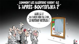 """Die Zeit nach Bouteflika - Karikatur von Hisham Baba Ahmed, Quelle: """"El Watan"""" vom 15.05.2016"""